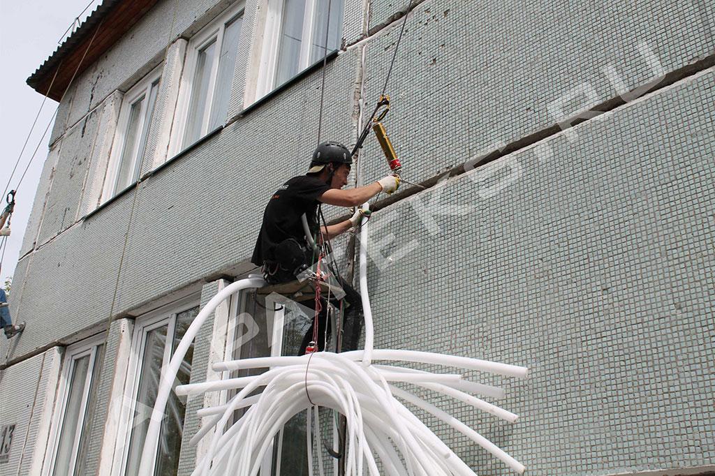 Заделка шва между стеной и перекрытием